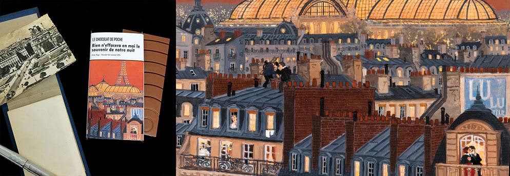 Vue sur le Grand Palais Fabienne Delacroix Victor Hugo Le Chocolat de poche